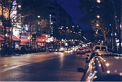 The Rue de Lafayette one night in 2004