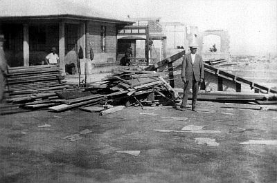 This picture of post-quake Napier isn't well known; it is from my collection and was published for the first time in the 2006 edition of my book Quake- Hawke's Bay 1931.