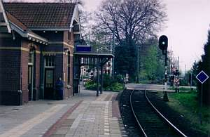 It was spring when I took this picture of a railway station in Soest, Netherlands.