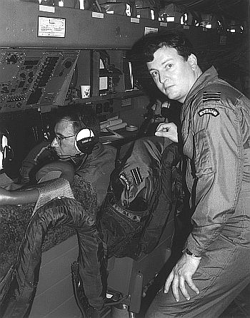 Journalist on a submarine hunt, Exercise Fincastle, 1994.
