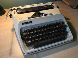 Now this is a typewriter I didn't wear out. Largely because I got a computer. But I still typed around a million words on it.