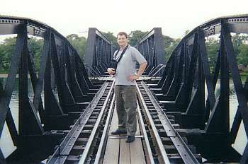 Me, on the Bridge over the River Kwai.