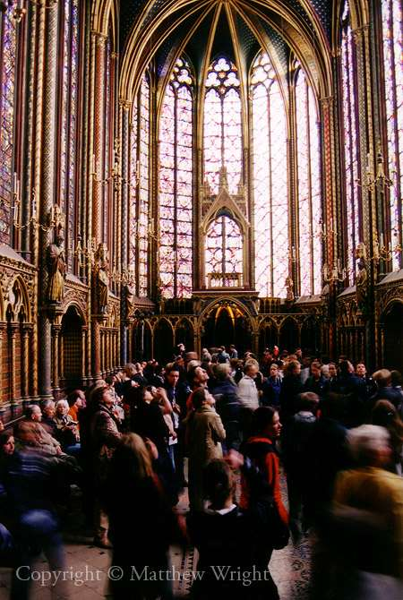 St Chappelle, Paris - a photo I took using Fujicolour 200 asa film at 1/125th with an exposure time of around 1 second. It worked.