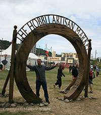 Yes, like a geeky Tolkien fan I had to pose in the entrance, such as it was - you could circle it, just like the door Aslan made to get rid of the Telmarines in .Prince Caspian'.