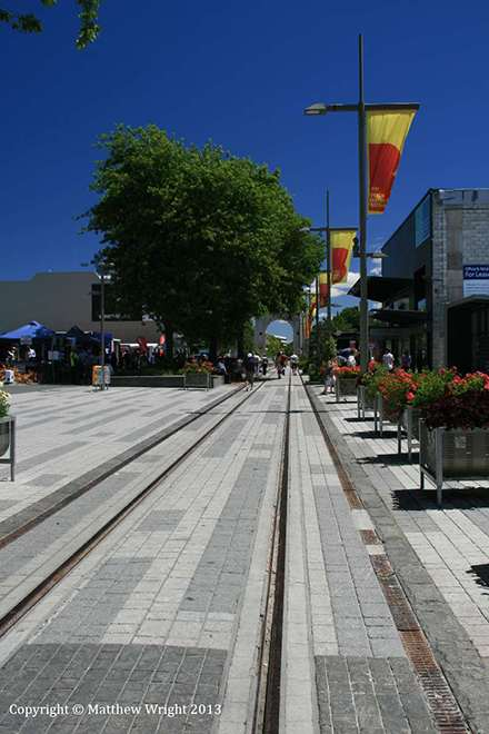 Christchurch's shipping container mall - 2013.