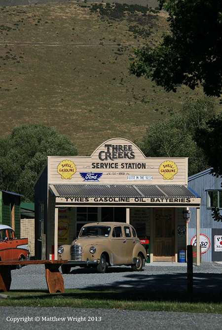 OK, the car's English - a give-away really. This scene is pretty classically New Zealand, I have to admit.