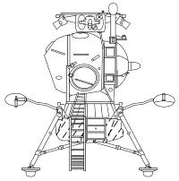 The Soviet LK lunar lander (NASA, public domain, via Wikipedia).