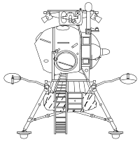 The Soviet LK lunar lander (NASA, public domain, via Wikipedia).