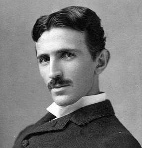 Nikolai Tesla in 1895. Public domain, from Wikimedia Commons.