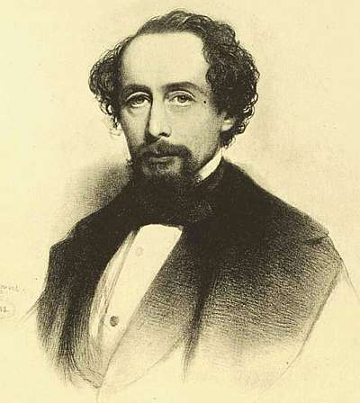 Charles Dickens, 1858. Public domain, from Wikimedia commons.