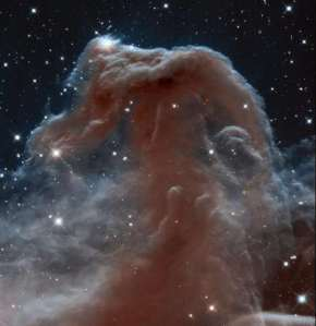 The Horsehead nebula, Barnard 33, as seen by Hubble. Wonderful, wonderful imagery.