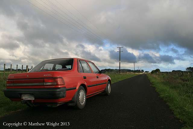 My trusty Toyota - which accompanied me on writing ventures for 18 years.