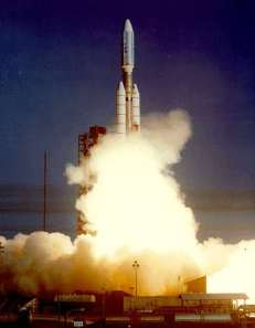 Voyager 1 launching, 5 September 1977. Photo: NASA, public domain.