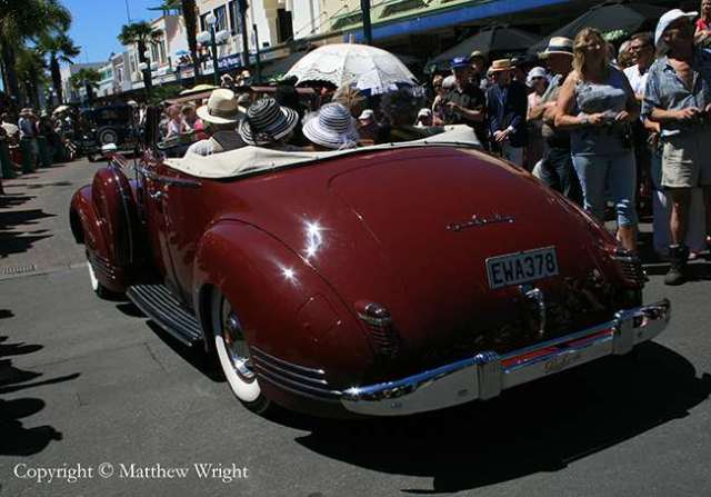 Deco dreaming: photo I took of a classic US car in New Zealand - art deco parade, Napier 2012.