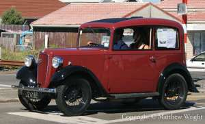Austin Seven Ruby, classic British transport designed to fit into the boot (sorry, 'trunk' of) a small American car. Click to enlarge...the photo, not the car...