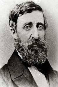 Henry David Thoreau...also followed me. Public domain, via Wikipedia.