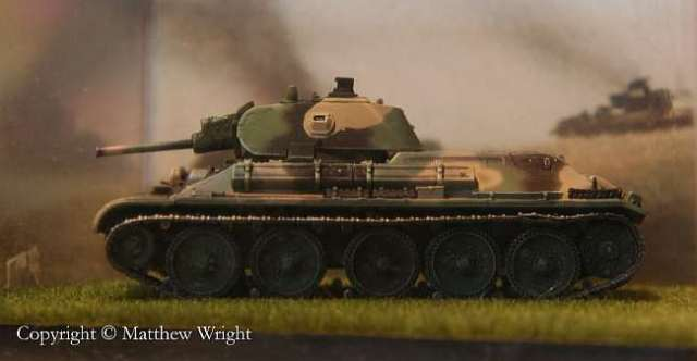 My 'Dragon' model of M. I. Koshkin's T-34. Lighting rig was improvised.