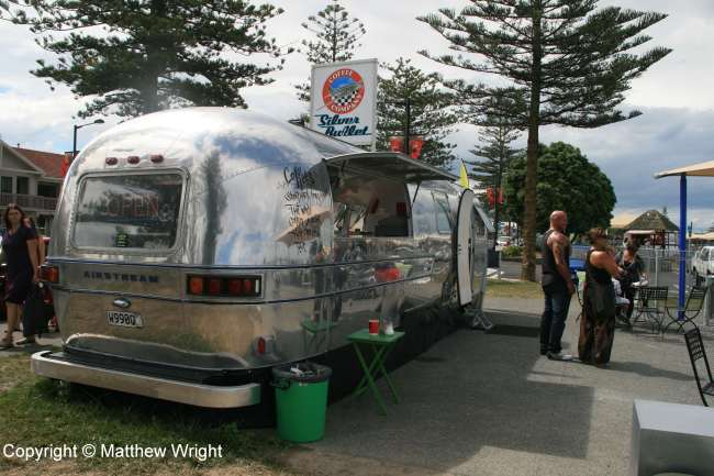 Airstream coffee cart on Napier's Marine Parade.