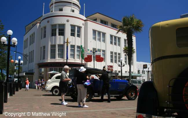 Former T&G Building (1936) on Napier's Marine Parade.