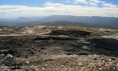 Not really Mordor - this is a photo I took of the open cast coal mine on the Stockton Plateau, near Westport in the South Island of New Zealand.