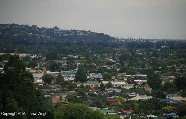 View from Otatara looking northeast. Now Napier city.