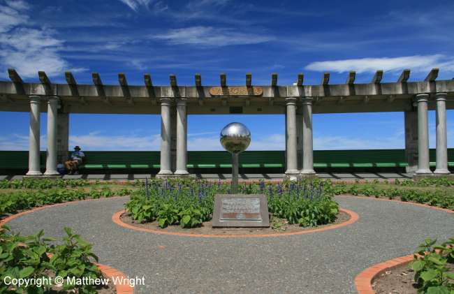The Sun Bay, memorial to the 258 who died in the devastating quake of 1931.