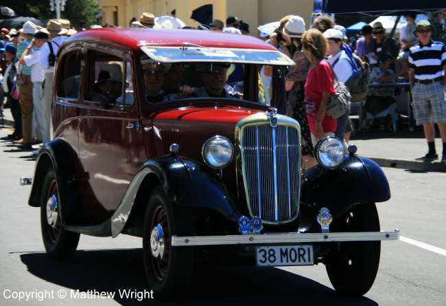 A 1938 Morris 'Minor' - same transmission, curiously, as the 1952 model I learned to drive on. No synchromesh on 3rd and 4th.