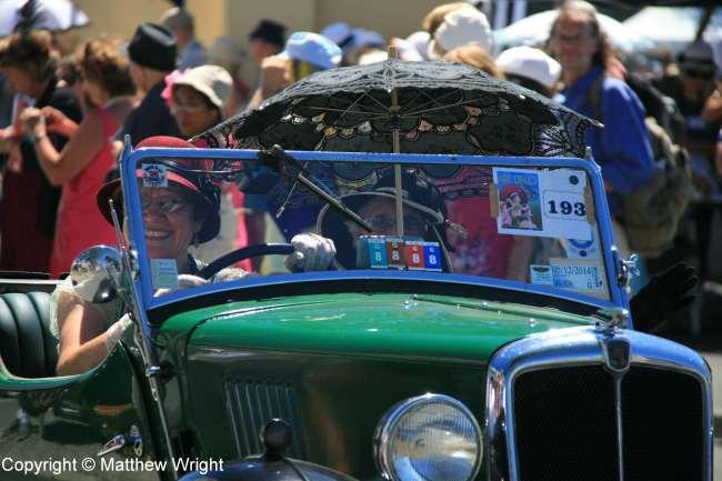 Vintage car parade, Napier, New Zealand.