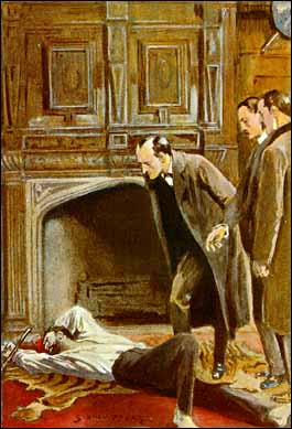 Holmes in action, illustration by Sidney Paget for Strand Magazine. Public domain, via Wikipedia.