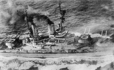 SMS Baden, the 1913 design to which German naval architects looked when planning Bismarck. Bundesarchiv_Bild_183-R17062