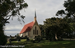 St Alban's Church at Pauahatanui, near Wellington - site of a major pa in 1845.