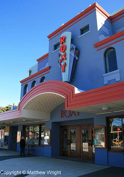 Exterior of the Roxy.