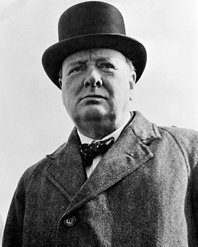 Sir Winston Churchill i n 1942 - quite possibly the greatest Englishman that ever lived. Wikimedia Commons, public domain. Library of Congress, Reproduction number LC-USW33-019093-C