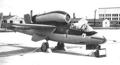 Heinkel He-162 'Volksjager' emergency fighter, captured by the US, at Freeman Field in 1945. This wooden jet was meant to be produced in huge numbers to tip the air balance. Actually it was difficult even for experienced pilots to control, and in the hands of the half-trained boys the Nazis intended to use as pilots would have been a death trap.