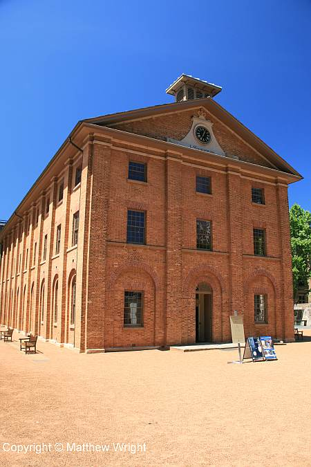 Hyde Park barracks, Sydney - now a museum and a World Heritage site.
