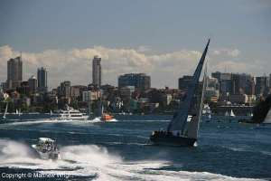 A busy Saturday on Sydney harbour.