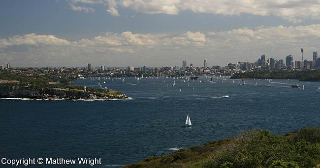 Port Jackson - Sydney Harbour - on a sunny Saturday.