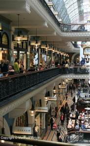 Inside the Victoria Building on George Street - Victorian-age mall.