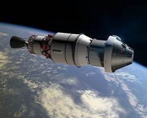 Artists' impression of the Orion EFT-1 mission. NASA, public domain.