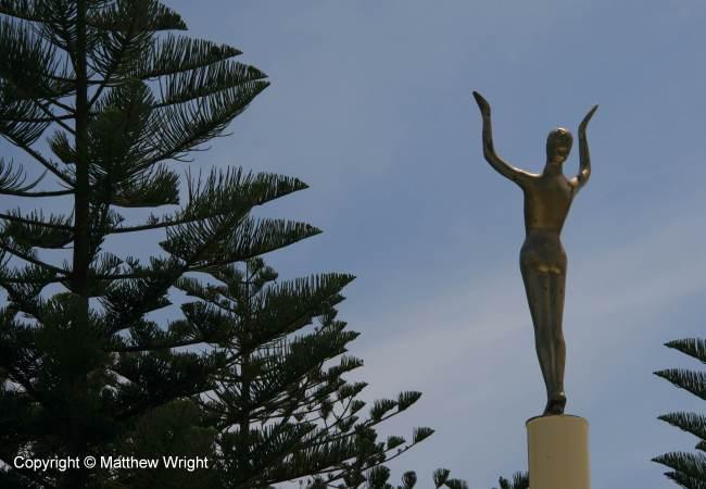 The Spirit of Napier - facing inland, not the sea. Sigh...