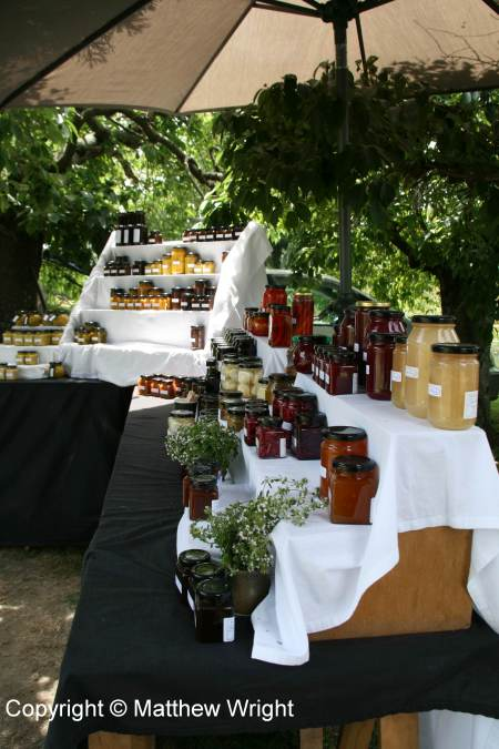 Stand at the Hawke's Bay Farmers' Market, January 2015.
