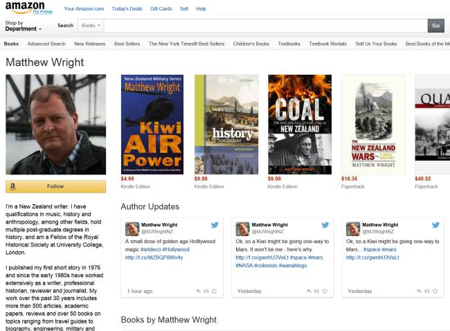 My Amazon author page. Click to check it out.