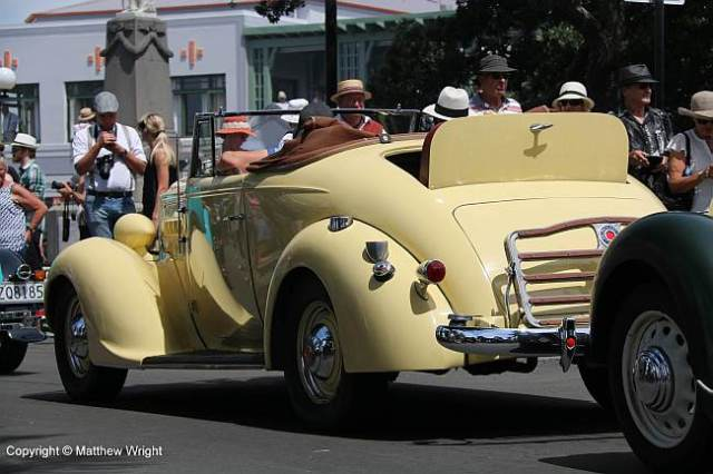A 1935 Packard Six, immaculately restored, Napier, New Zealand.
