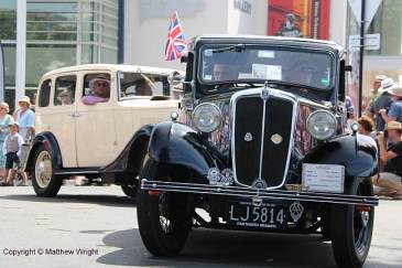 A couple of pre-war Brit cars in action. Well, things with wheels on them anyway...