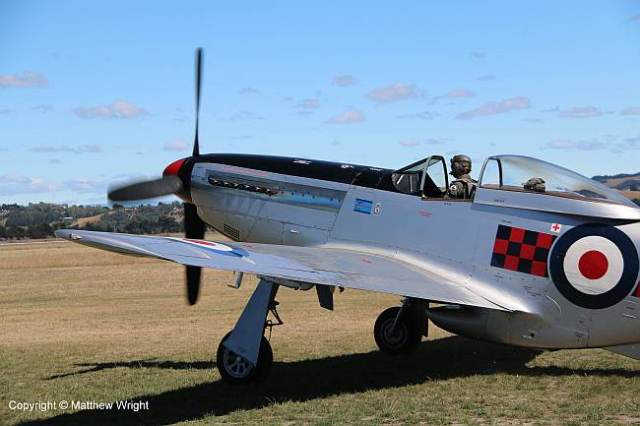 P-51 Mustang at Napier airport, February 2015.