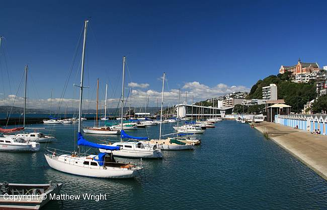 Boat harbour, Oriental Bay, Wellington.
