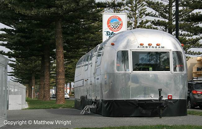 Airstream coffee bar, Napier, New Zealand.