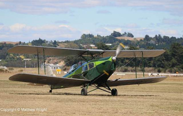 """I say, Carstairs, jolly nice day for a bit of an aerial jaunt, eh, what!' De Havilland Fox Moth at Napier airport, 2015."