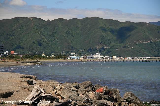 Petone Beach, Wellington district, New Zealand.