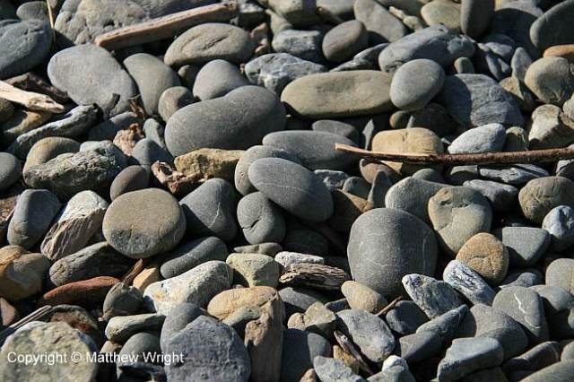 Beach stones, Makara, New Zealand.